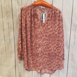 NWT NEVER WORN Violet+Claire Pink Ruffled Blouse!